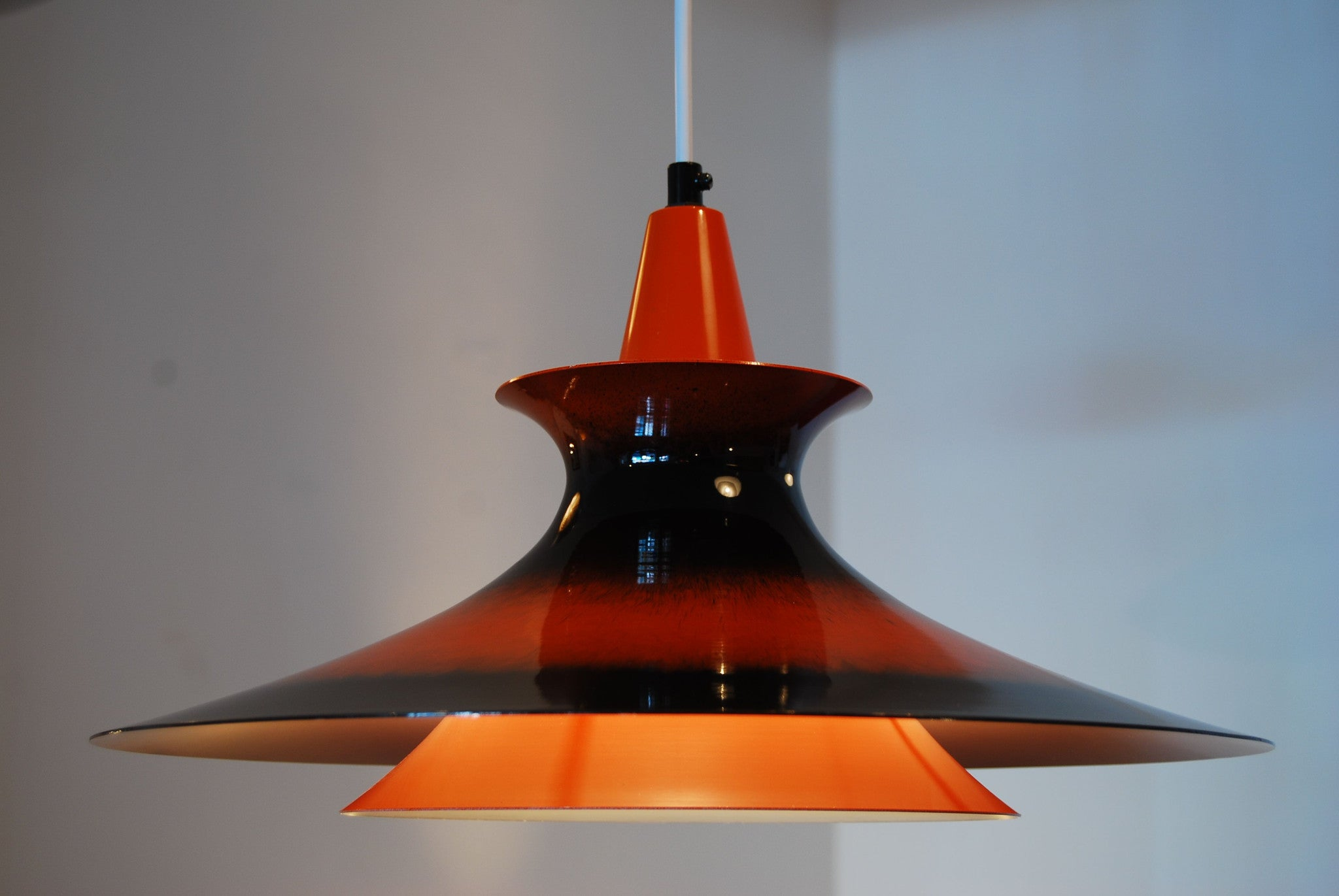 Orange and brown ceiling light