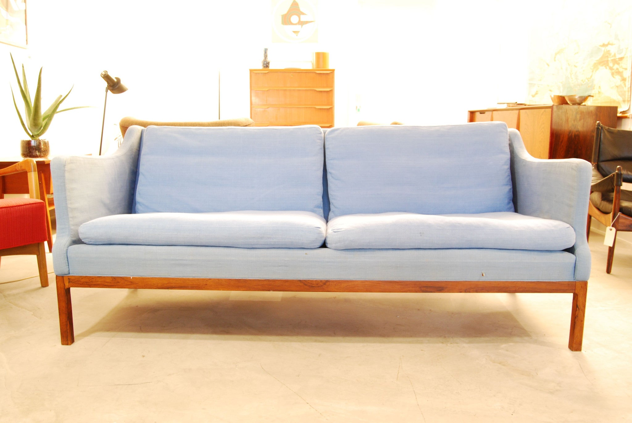 Baby blue three seater