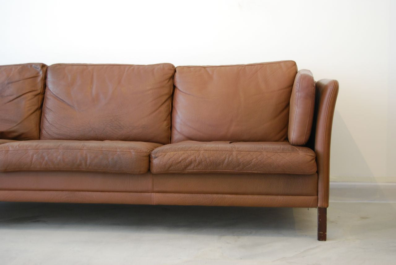 Chase & Sorensen Three seat sofa in leather