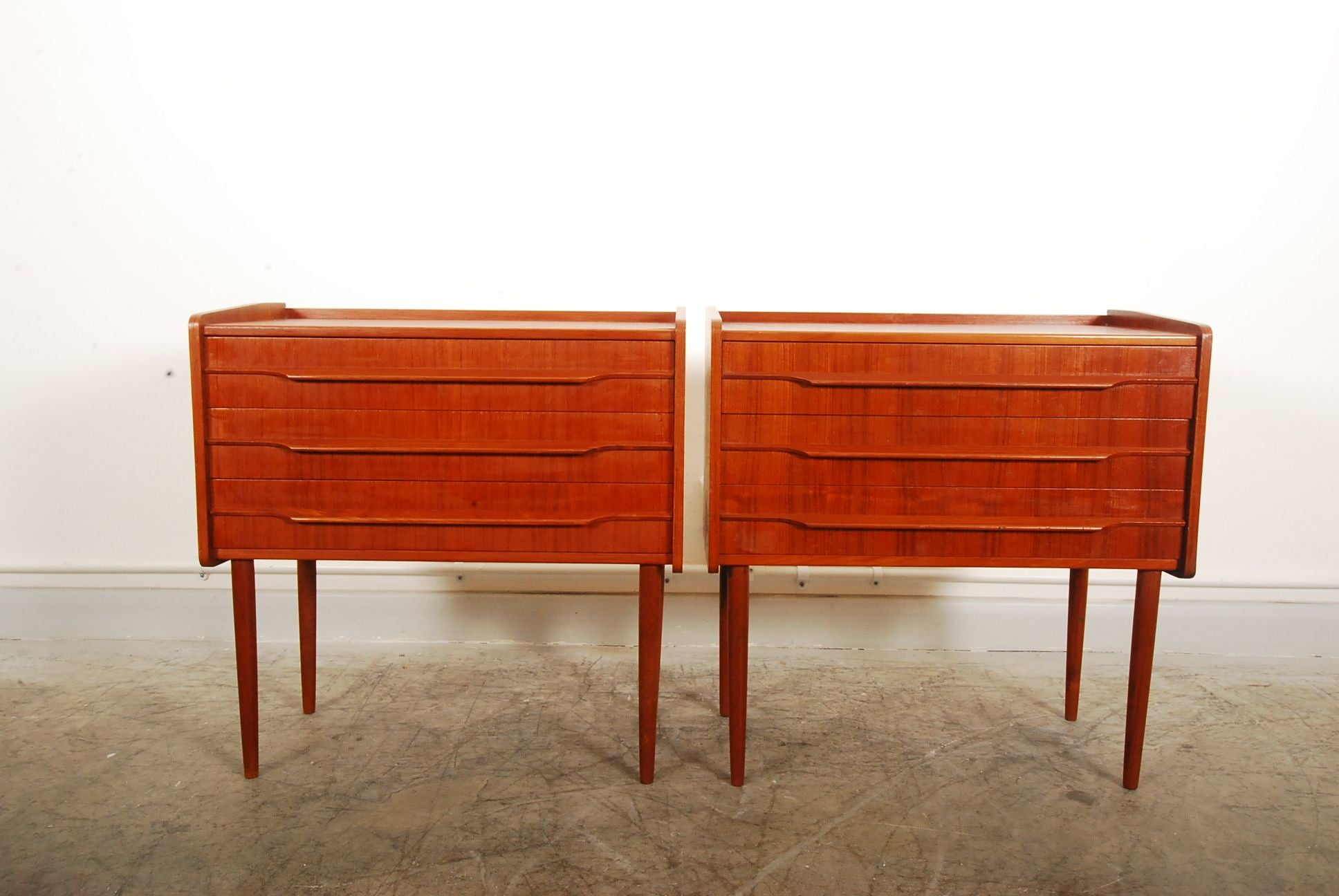Pair of low chests / bedside tables