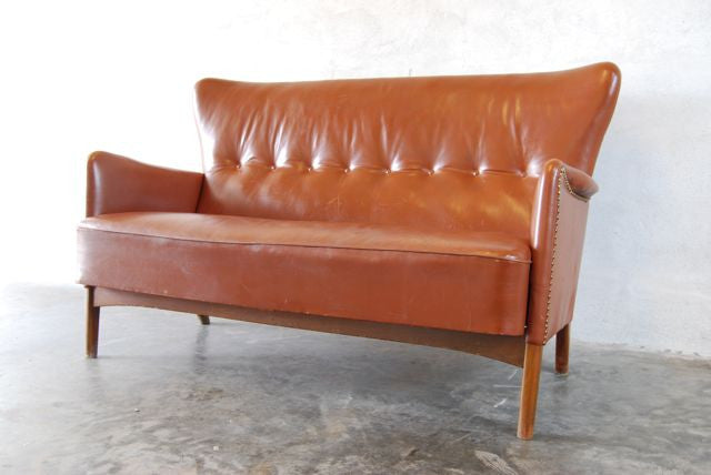 Chase & Sorensen 1950s two seater in leather