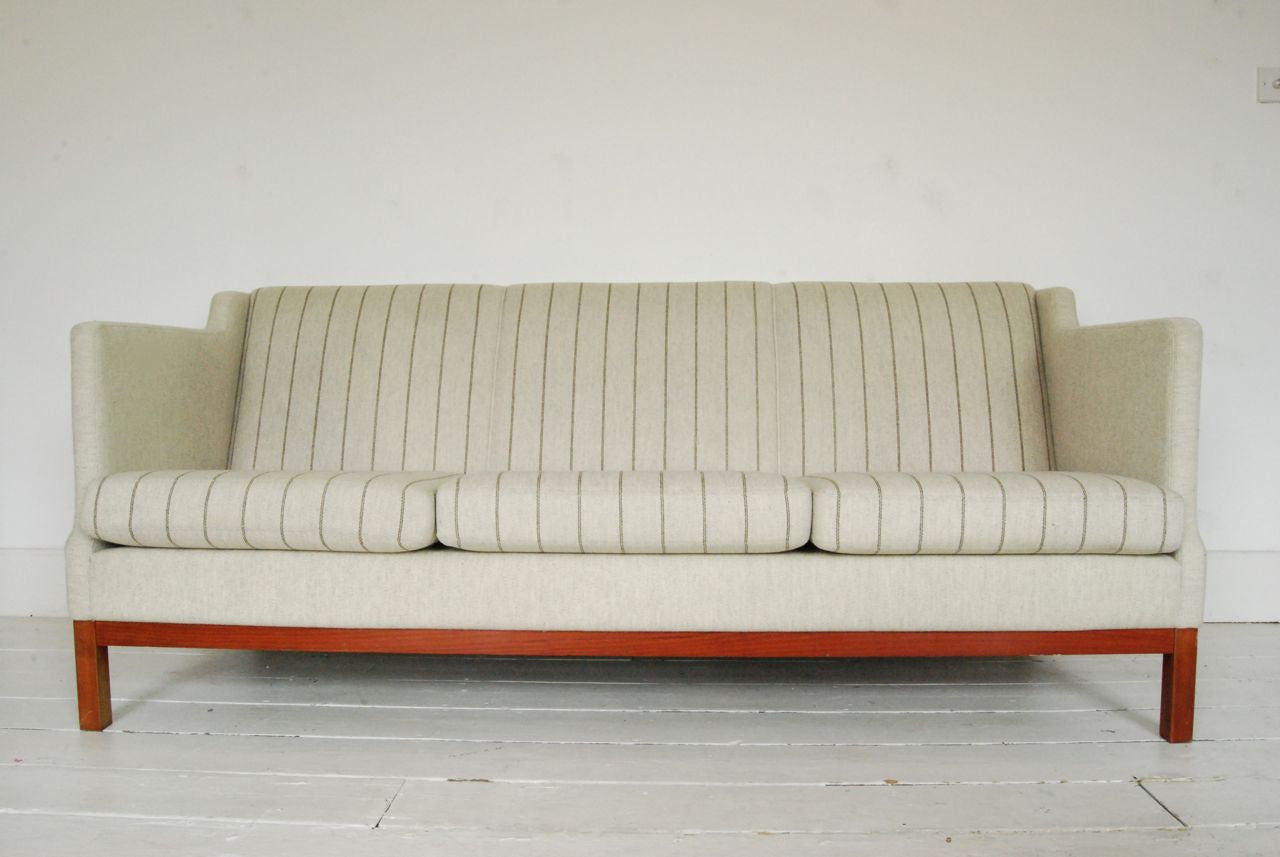 Chase & Sorensen Striped three seat sofa
