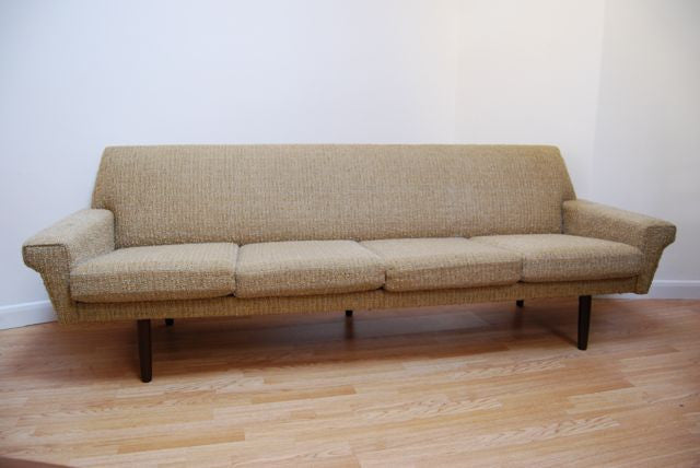 Four seater in a creme wool