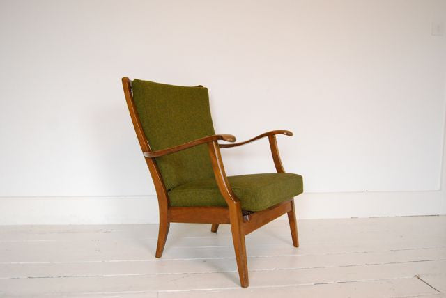 Lounge chair in beech