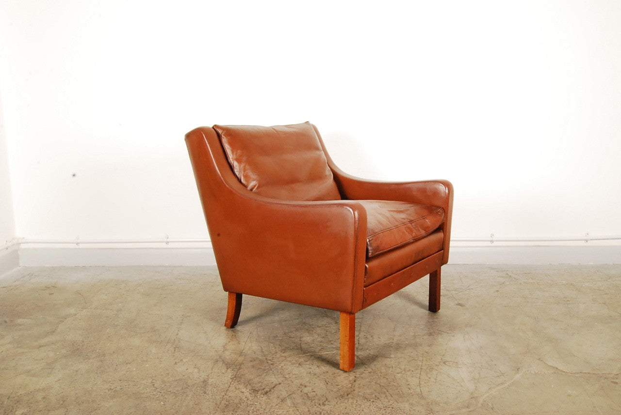 Leather lounger by G. Thams