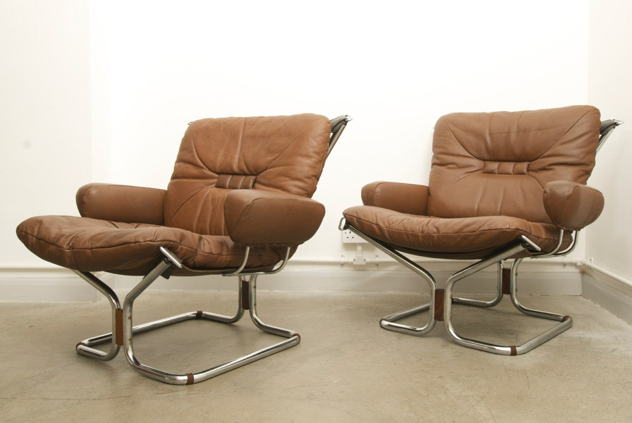 Pair of Harald Relling lounge chairs