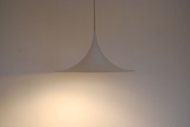 Trompetpendel ceiling lamp in white