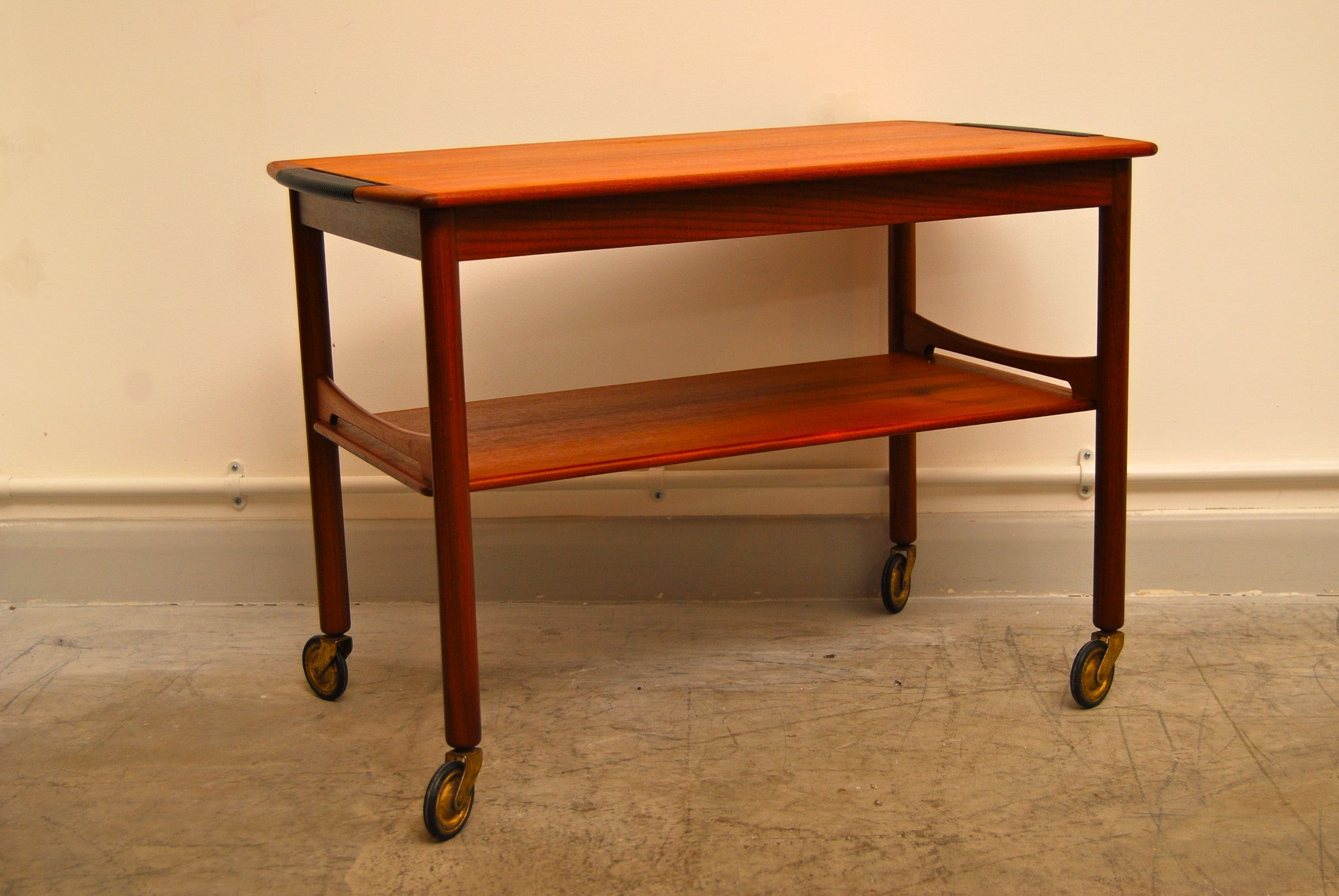 Teak tea trolley
