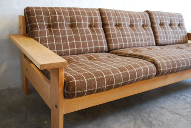 Oak-framed Three Seater Sofa