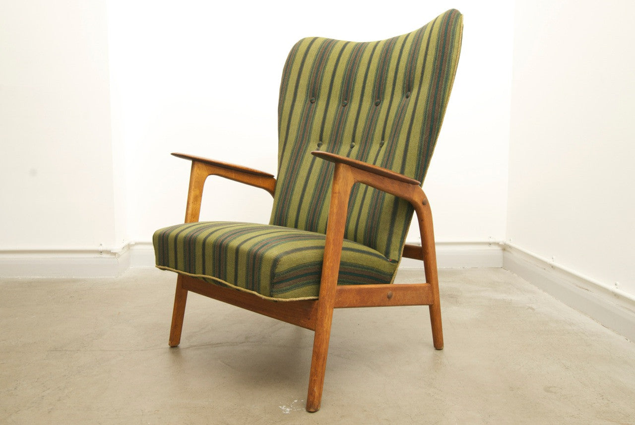 1950s high back lounge chair