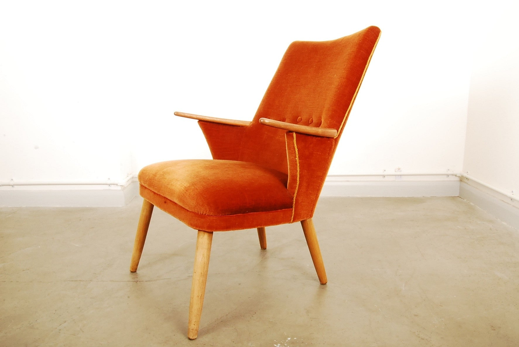 1950s occasional chair with teak arms