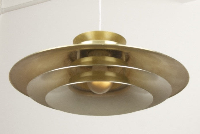 Mulit-tiered brass ceiling pendant