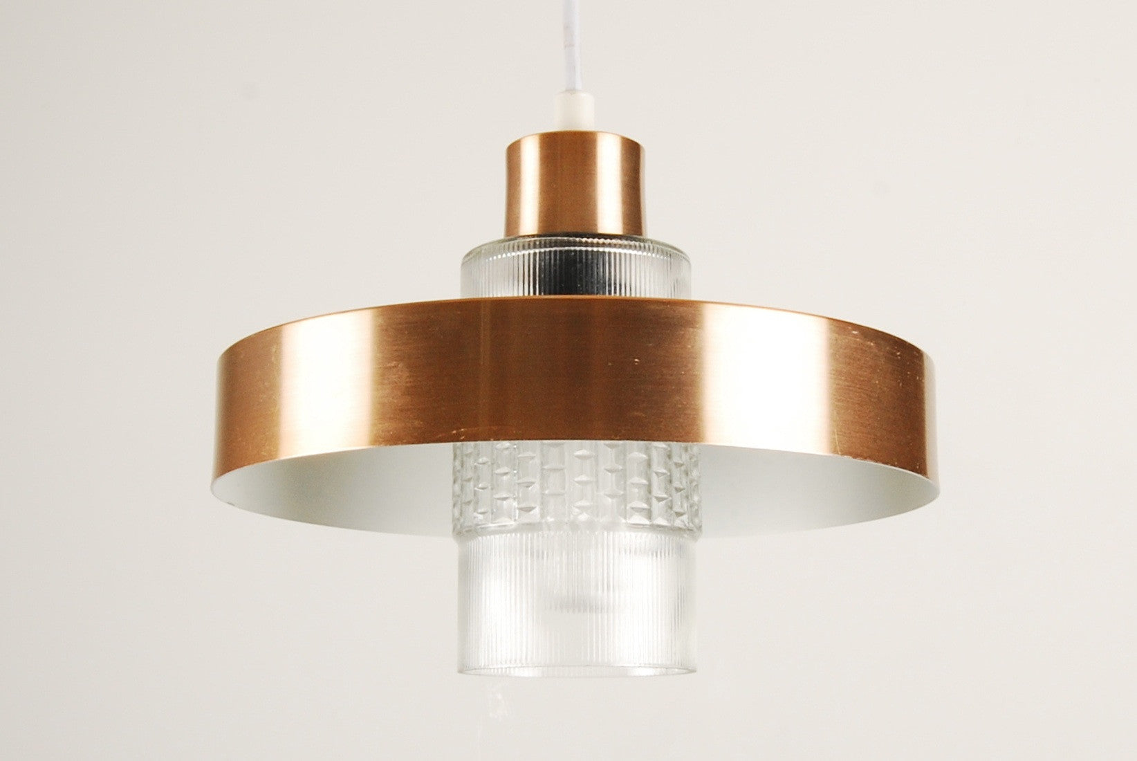 Chase & Sorensen Brass and glass ceiling light