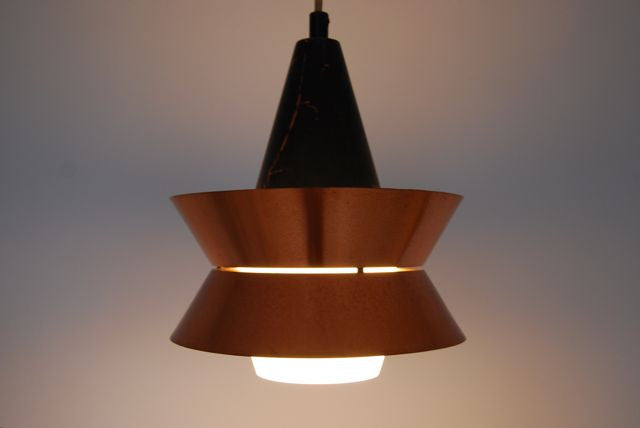 Chase & Sorensen Ceiling pendant with glass diffuser