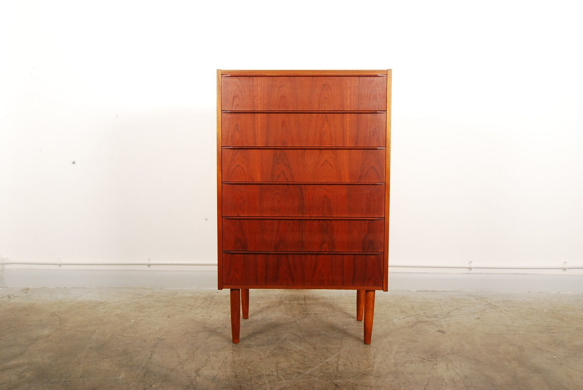 Chase & Sorensen Chest of six drawers in teak no. 1