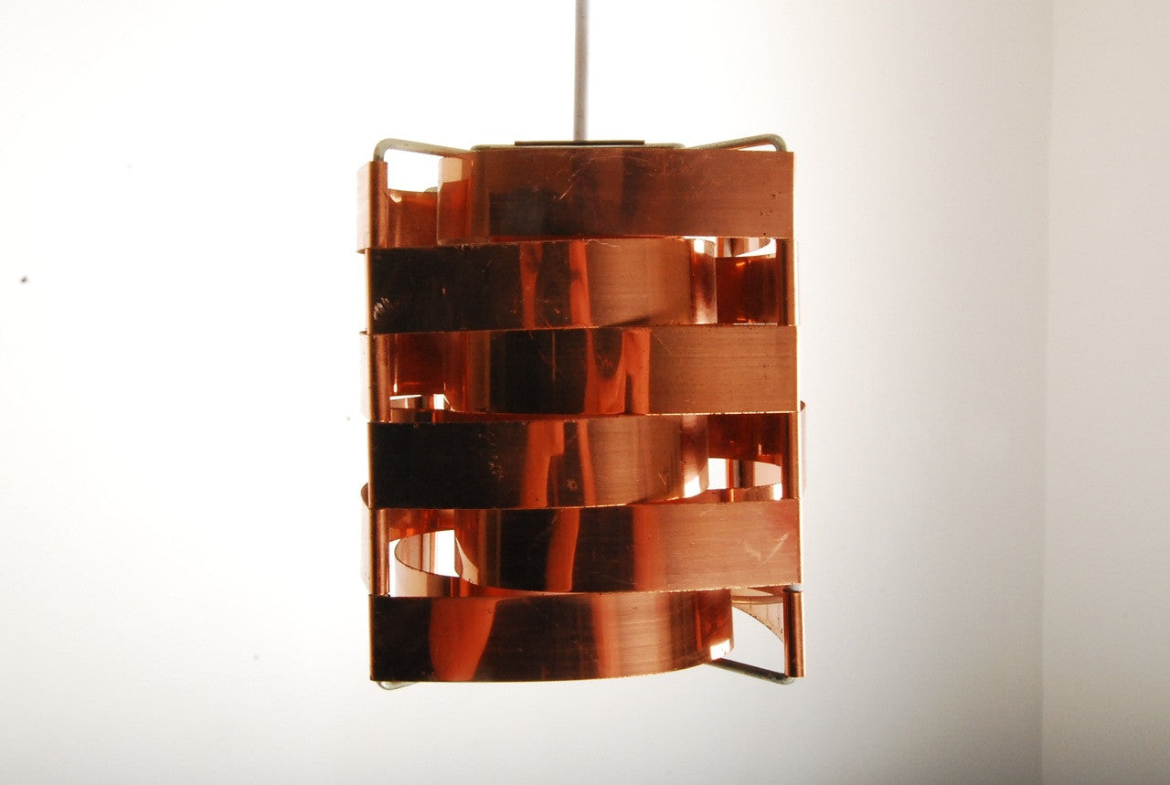 Copper panelled ceiling pendant