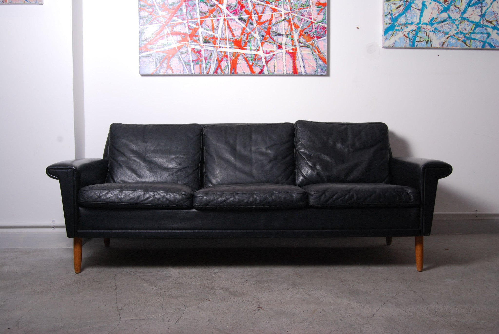 Chase & Sorensen 1960s leather three seater