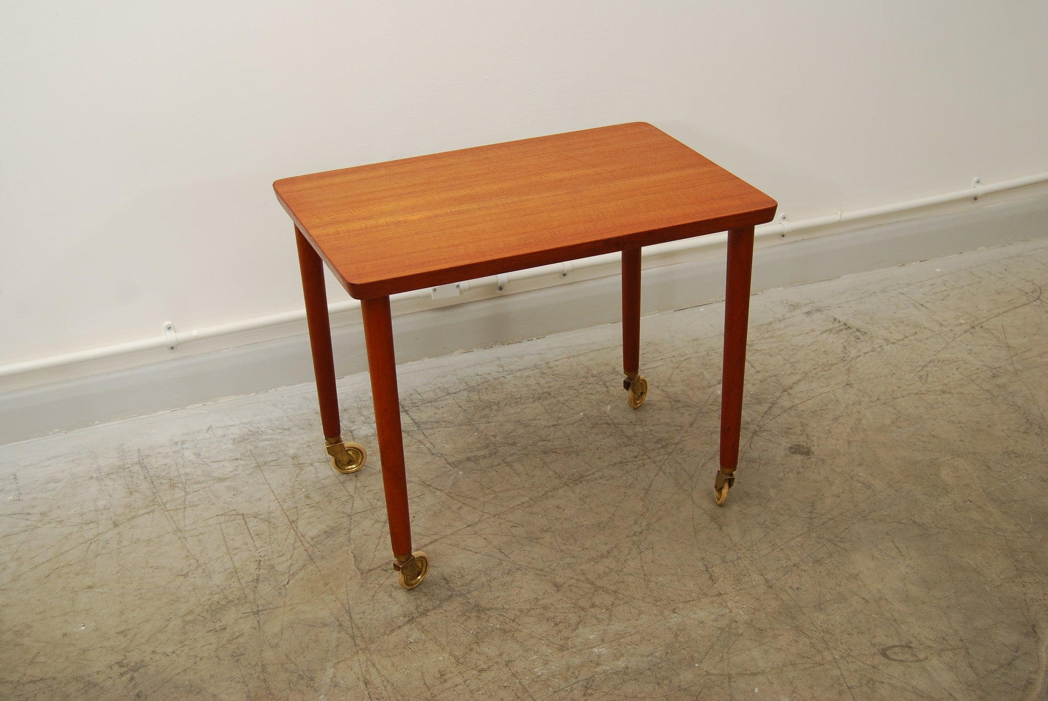 Teak trolley table by Poul Hundevad