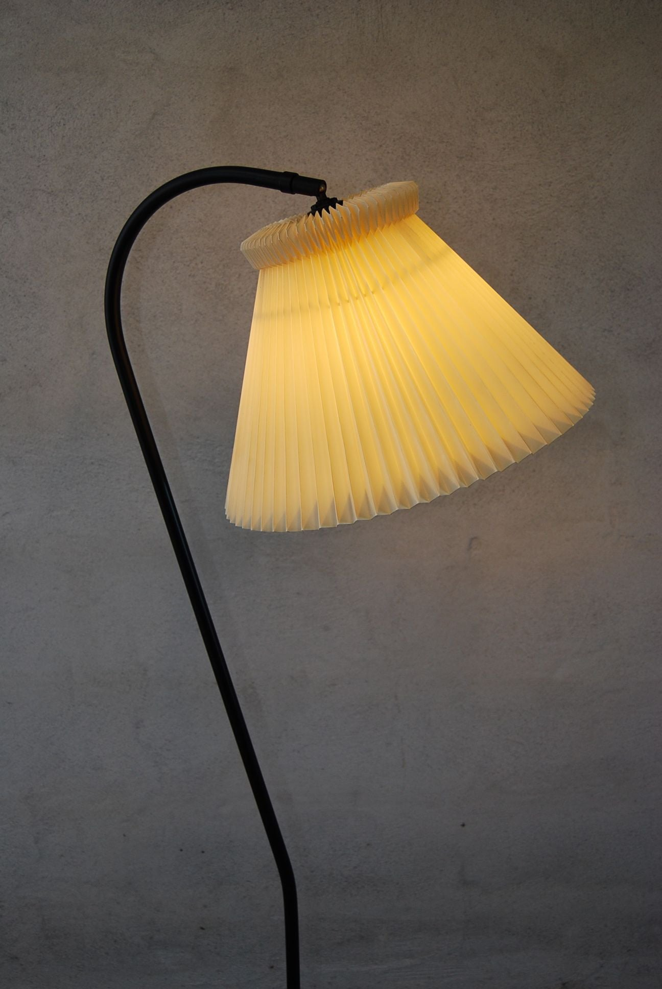 Floor Lamp with Curved Neck