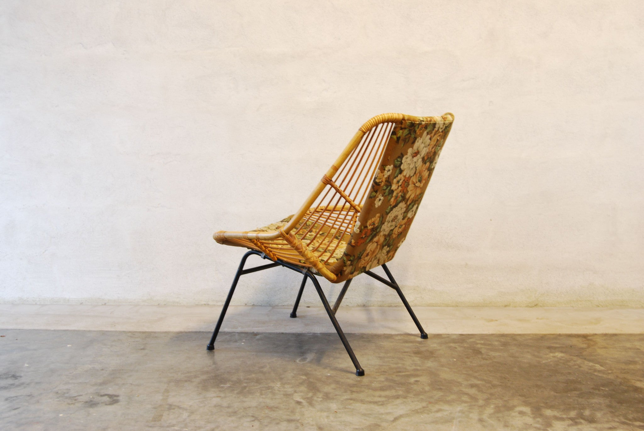 Chase & Sorensen Bamboo and wrought iron occasional chair