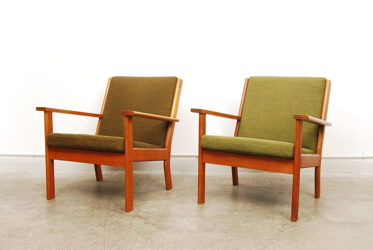 New price: Pair of lounge chairs by Poul M. Volther