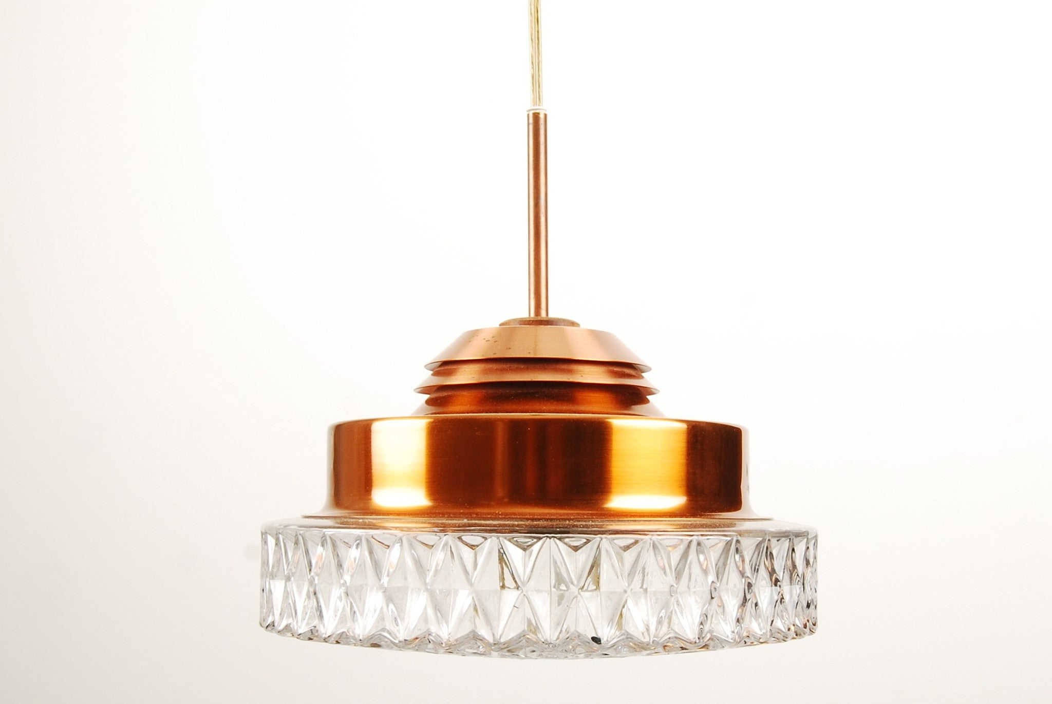 Chase & Sorensen Copper and glass ceiling light