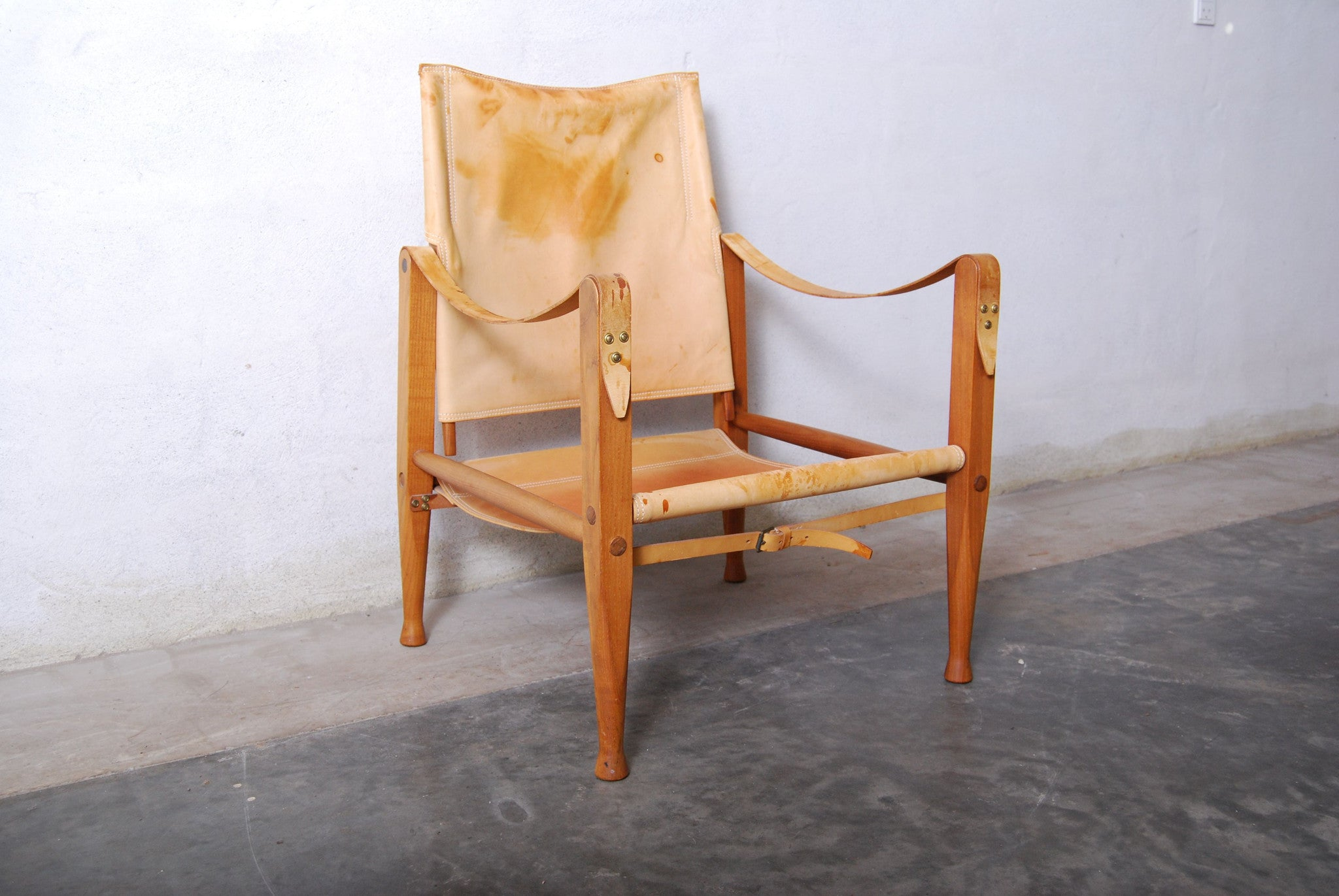 Chase & Sorensen Pair of safari chairs by Kaare Klint