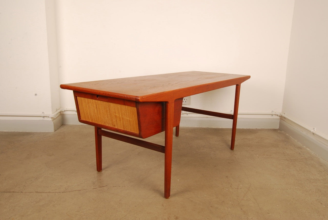 Teak coffee table with hobby drawer