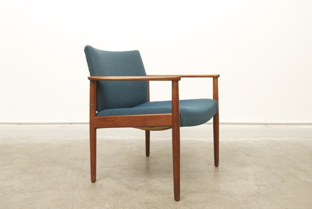 Teak and wool occasional chair