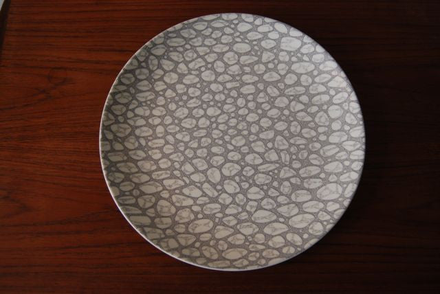 Pebble plate by Poole Pottery
