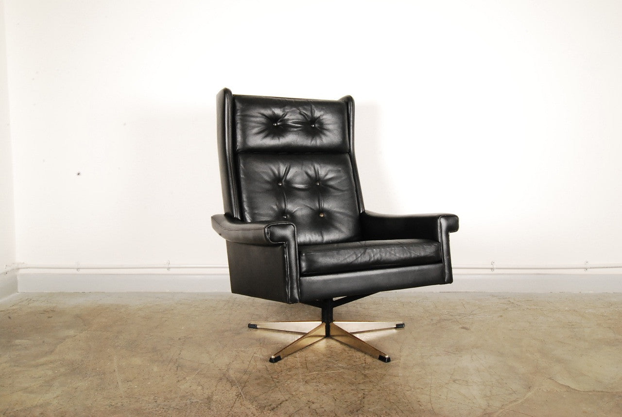 High back leather lounger
