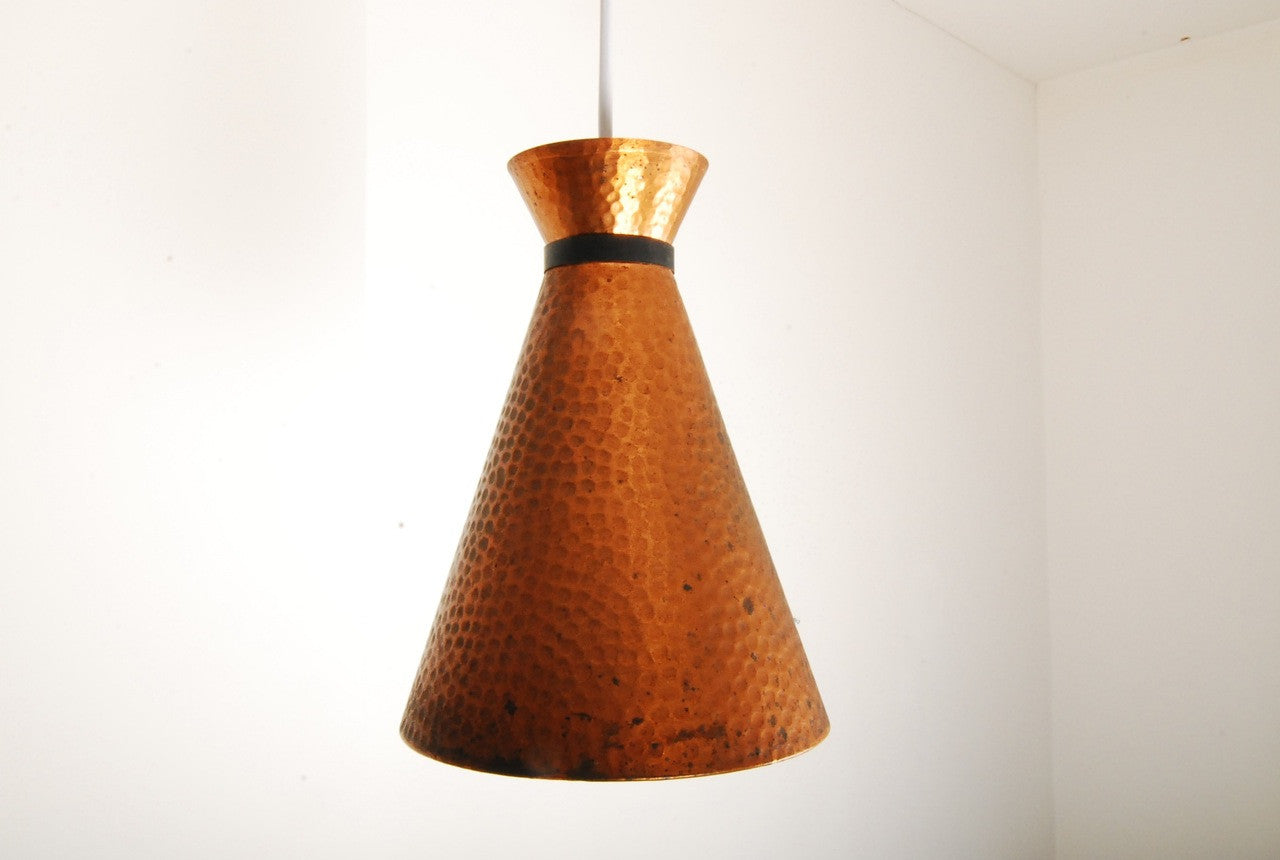 Copper cone lamp