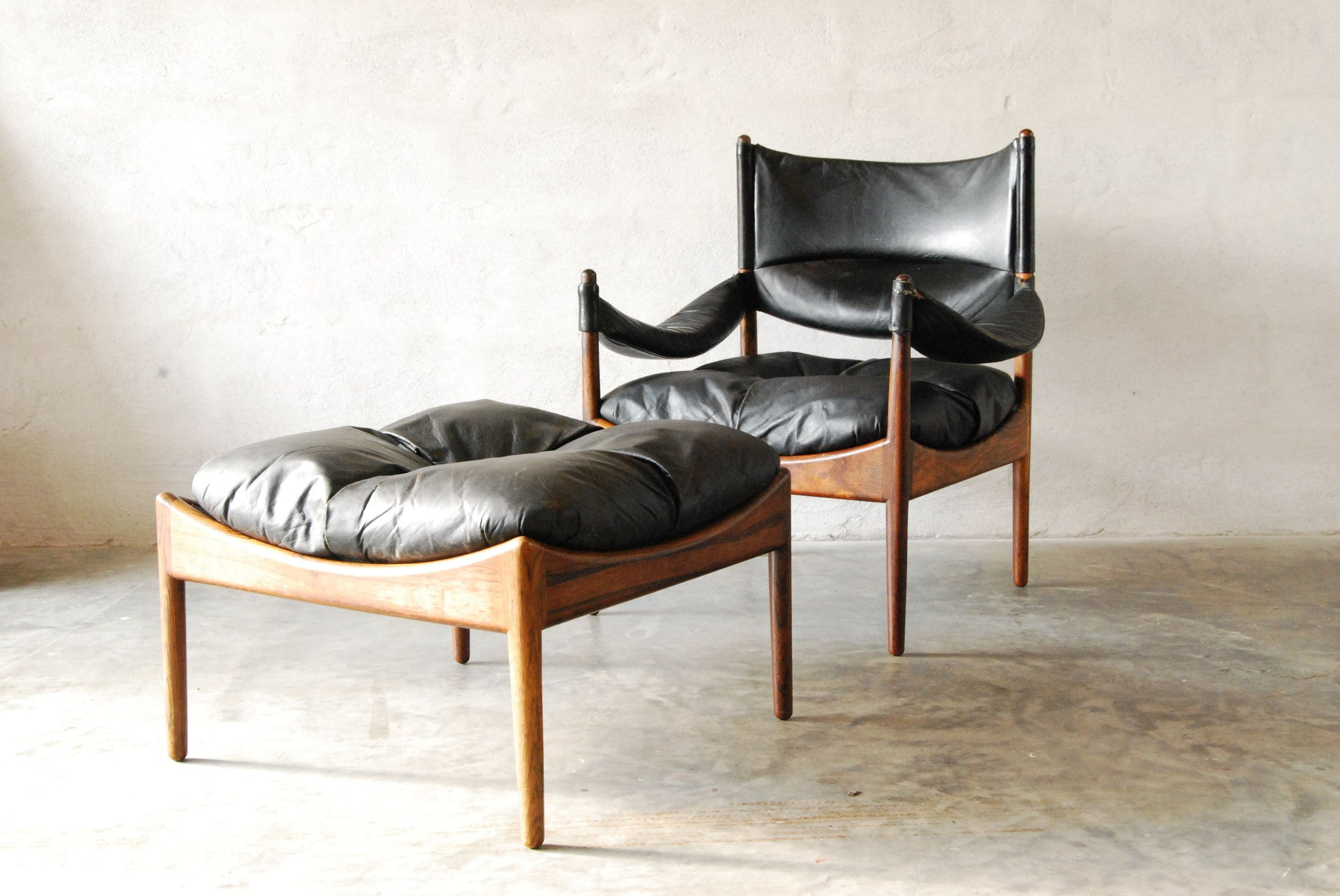 Modus chair and footstool by Kristian Solmer Vedel