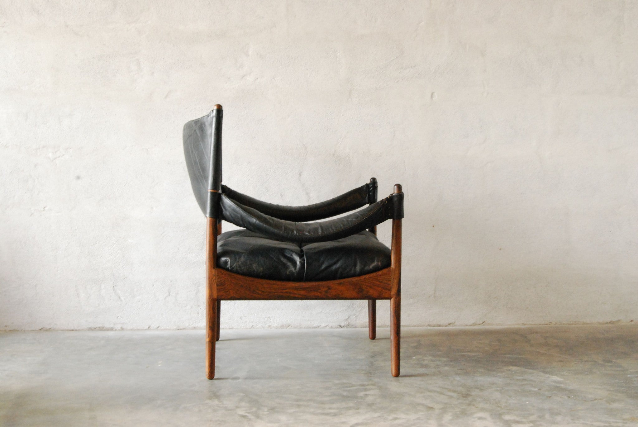 Chase & Sorensen Modus chair and footstool by Kristian Solmer Vedel