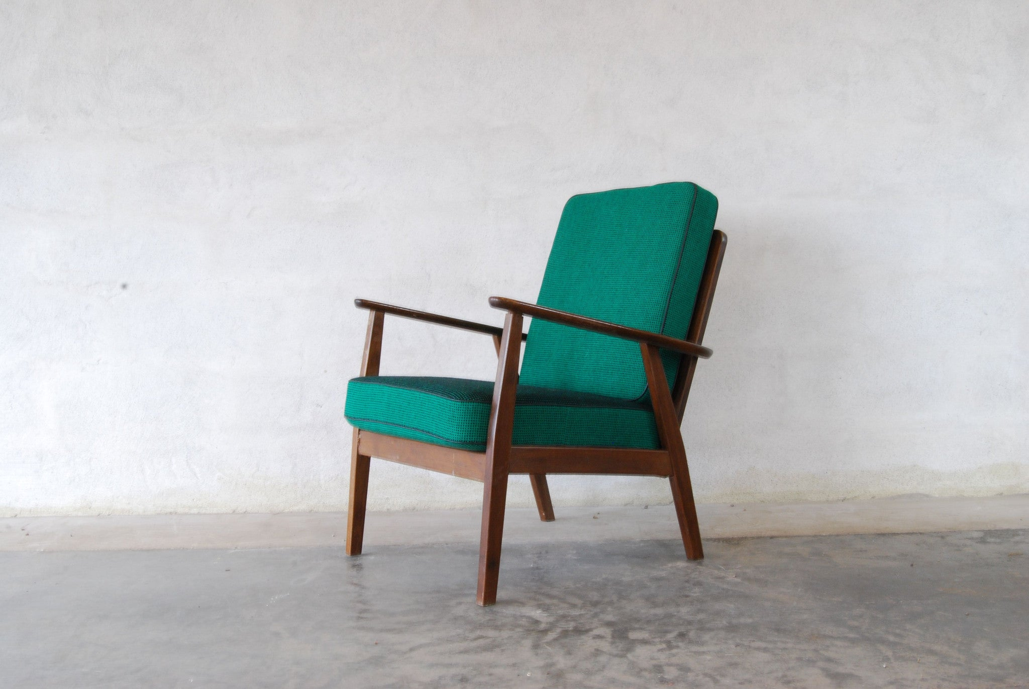 Stained beech lounge chair