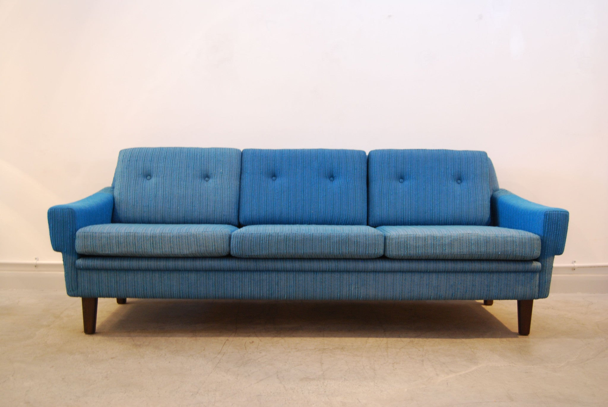 Sea blue three seat sofa
