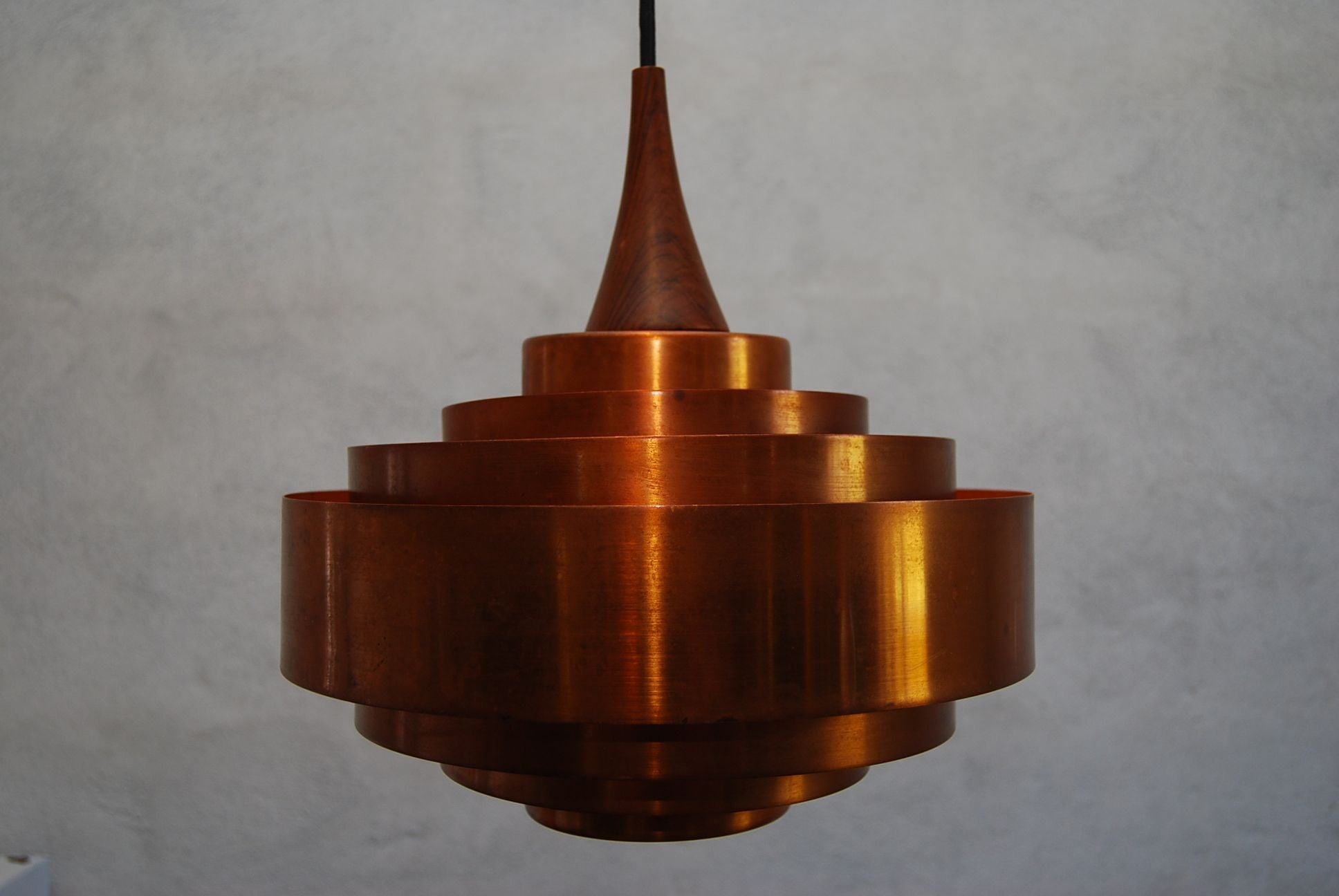 Chase & Sorensen Copper Ring Ceiling Lamp