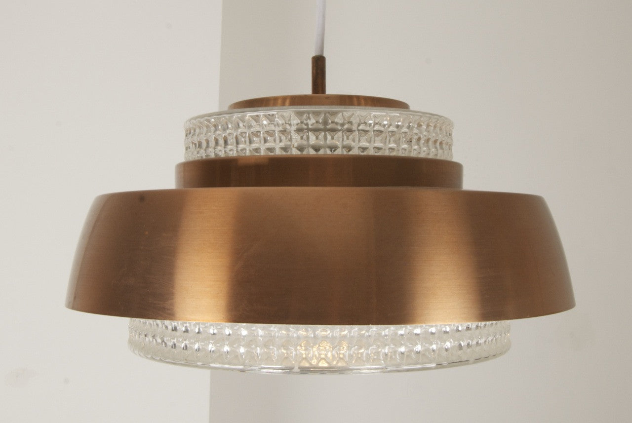 Chase & Sorensen Copper / glass ceiling lamp