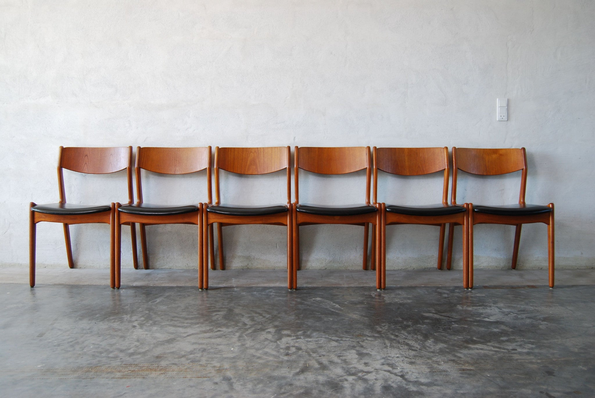Chase & Sorensen Set of six teak dining chairs