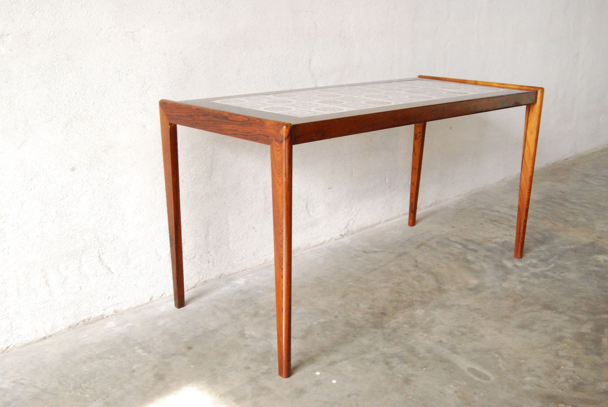 Chase & Sorensen Tiled rosewood hallway/coffee table