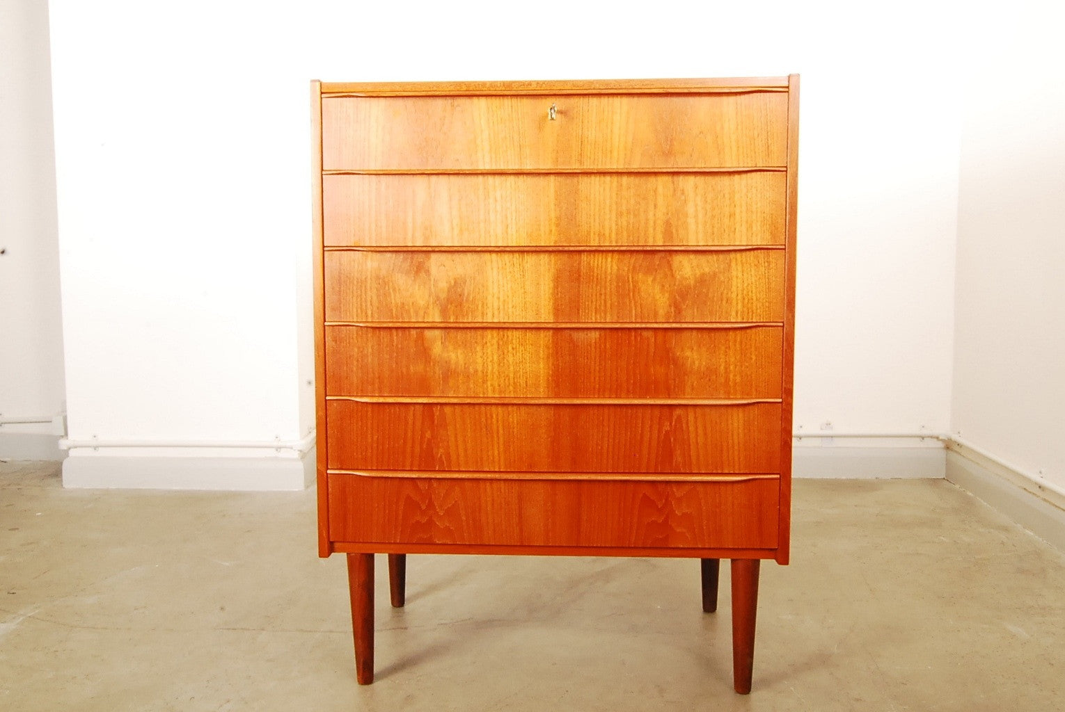 Chase & Sorensen Chest of six drawers in teak