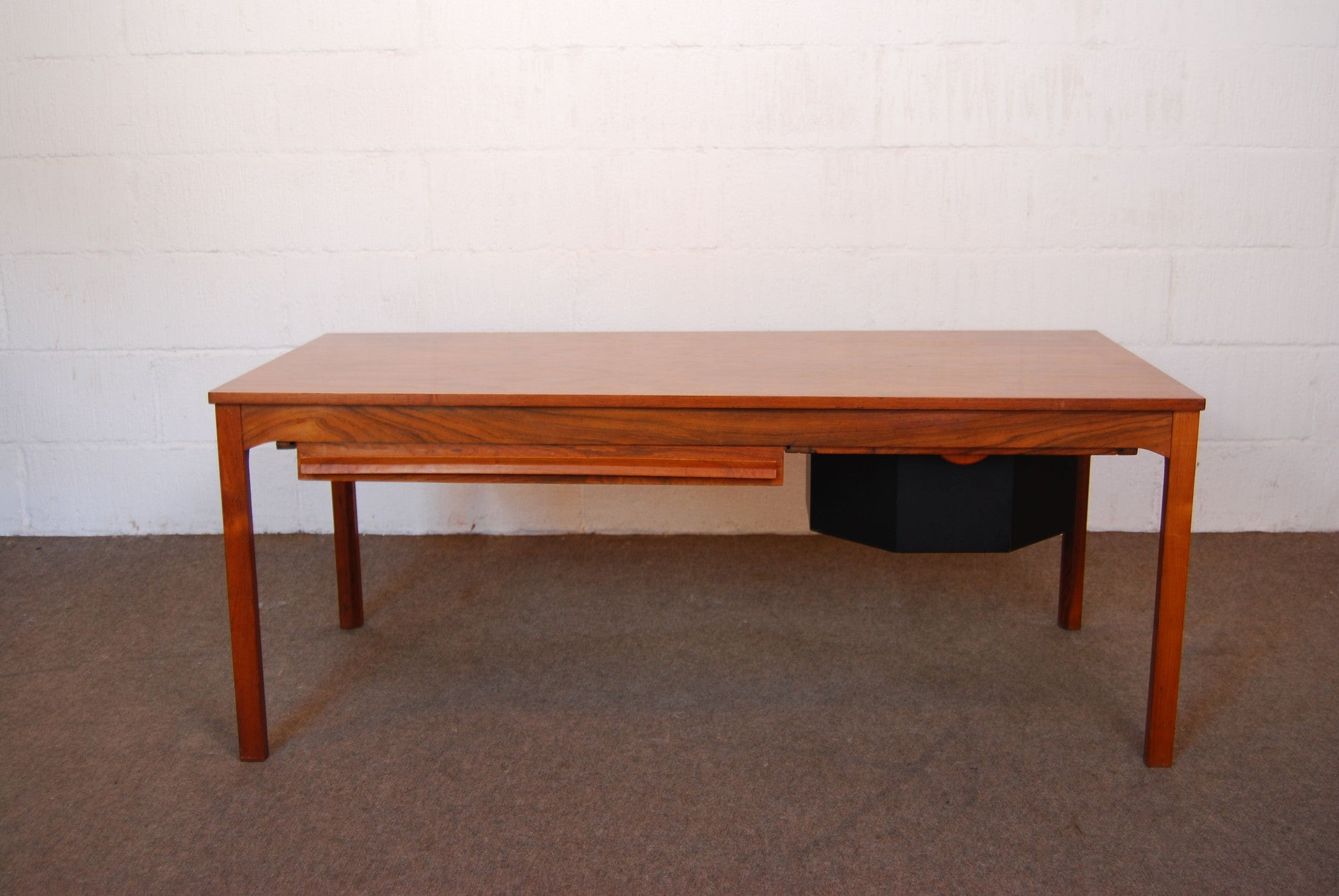 Rosewood coffee table with sewing storage