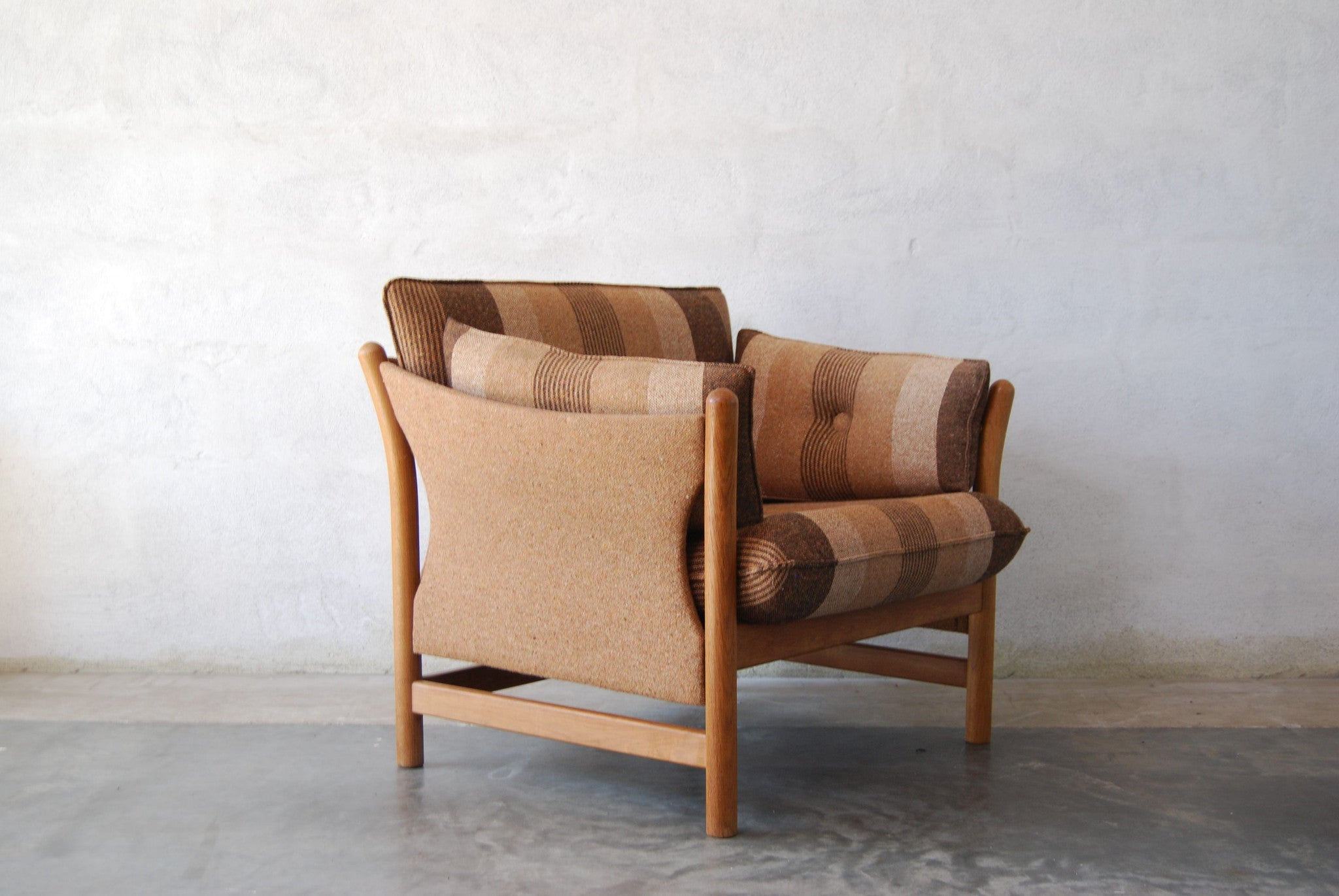 New price: Oak-framed lounge chair