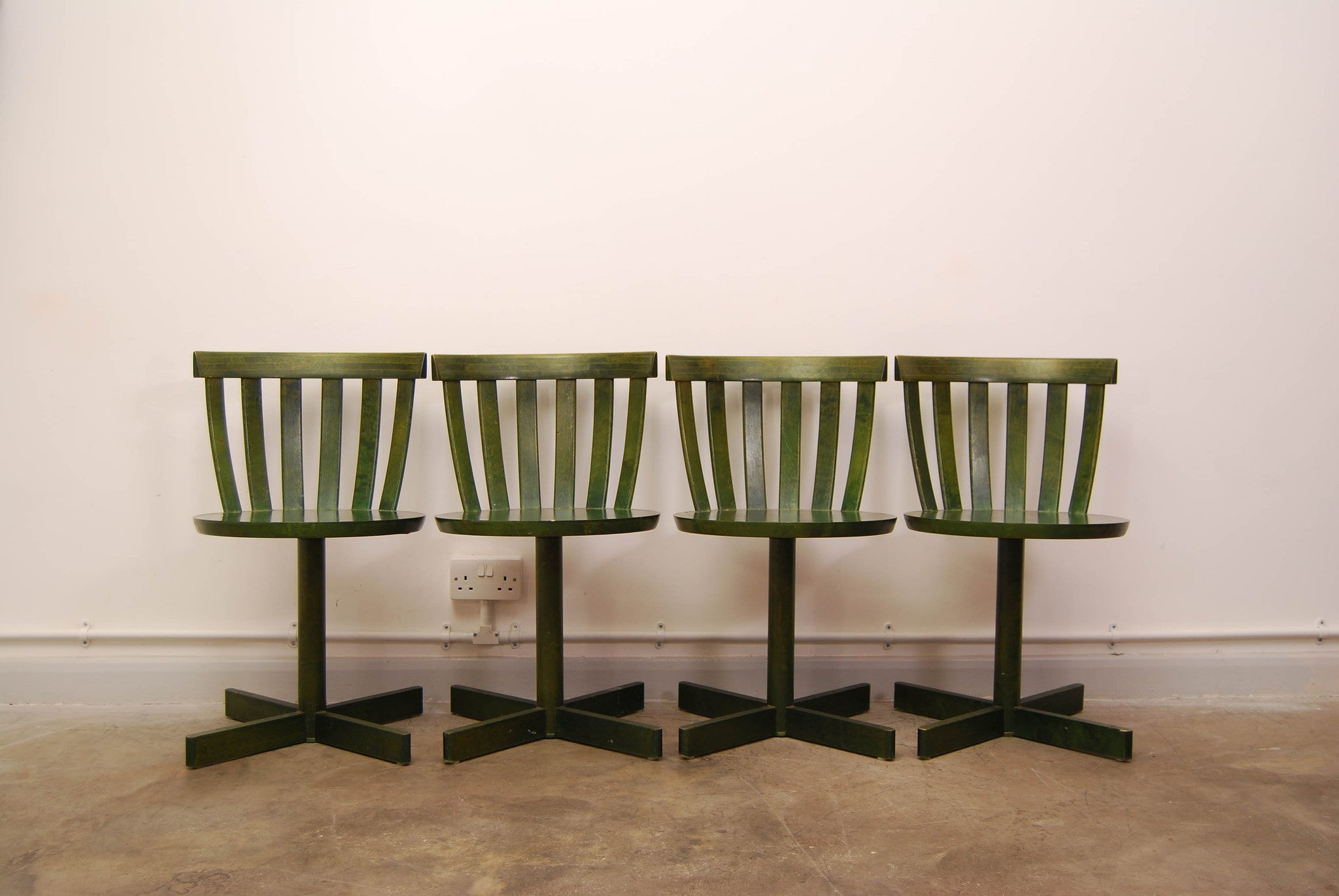 Set of four dining chairs by Edsby Verken