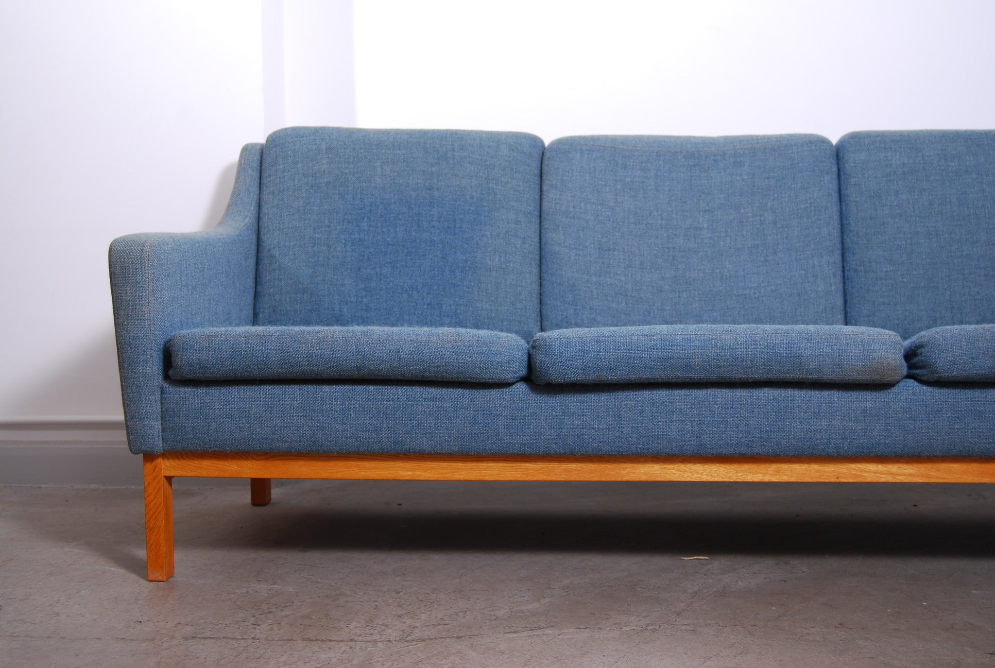 Three seat wool sofa