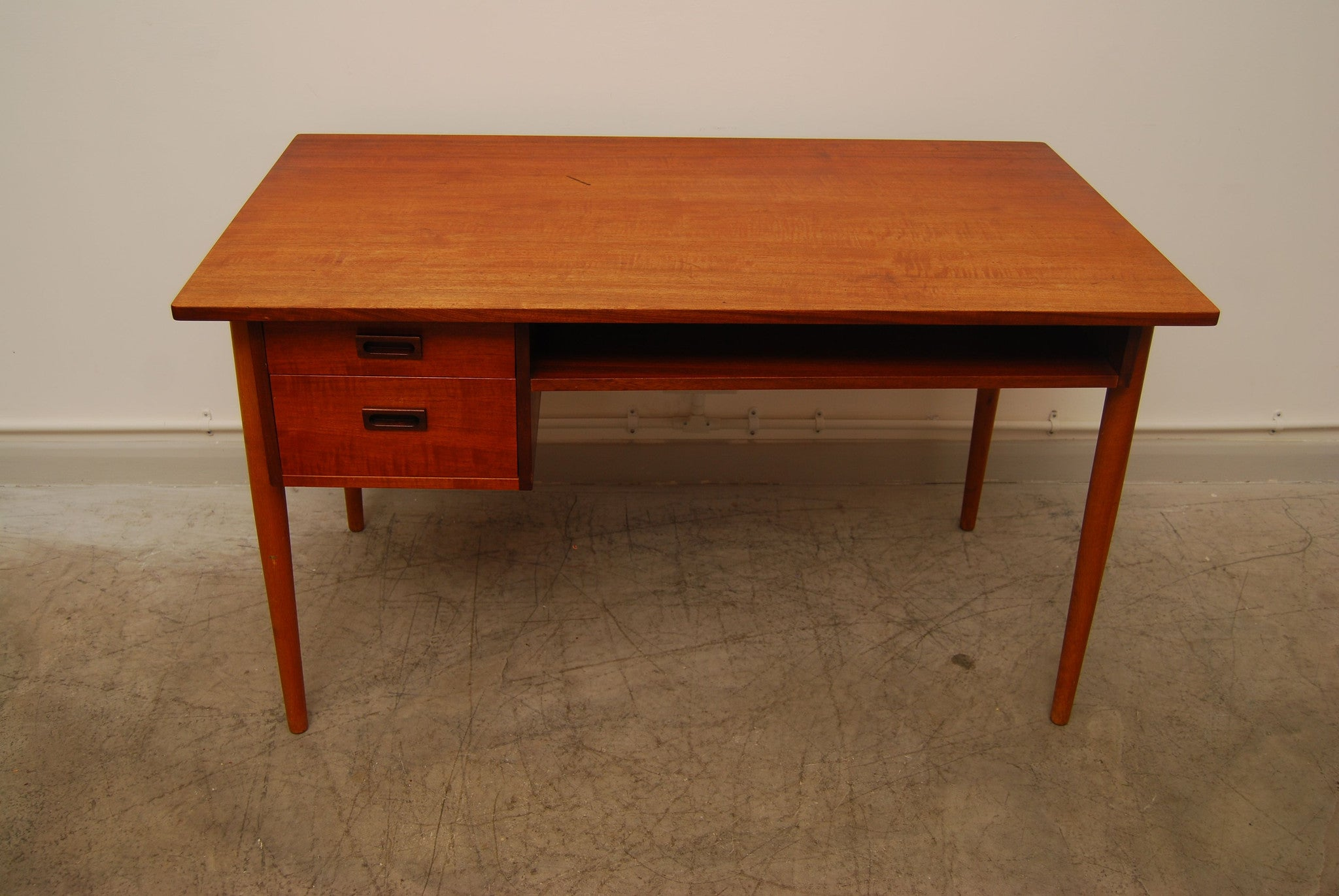Teak and oak executive desk