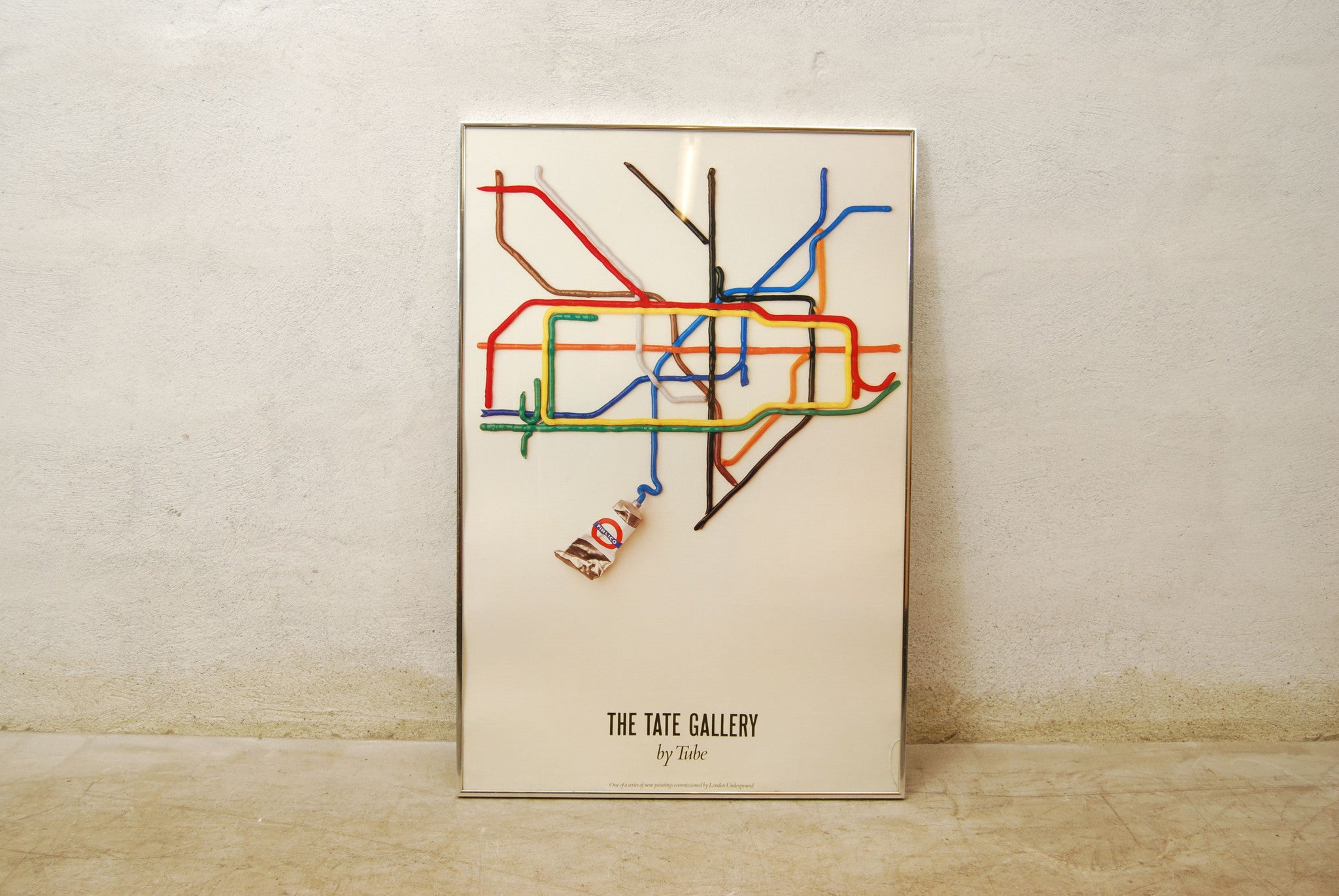 "Chase & Sorensen Framed poster ""Tate Gallery by Tube"""