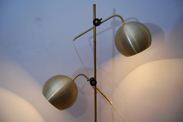 Floor lamp with domed shades