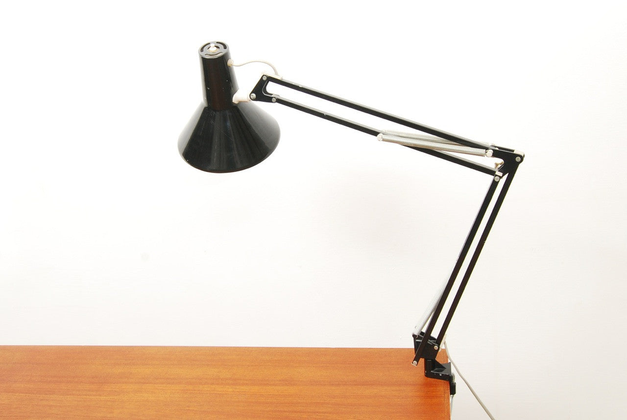 Black anglepoise lamp by LUXO