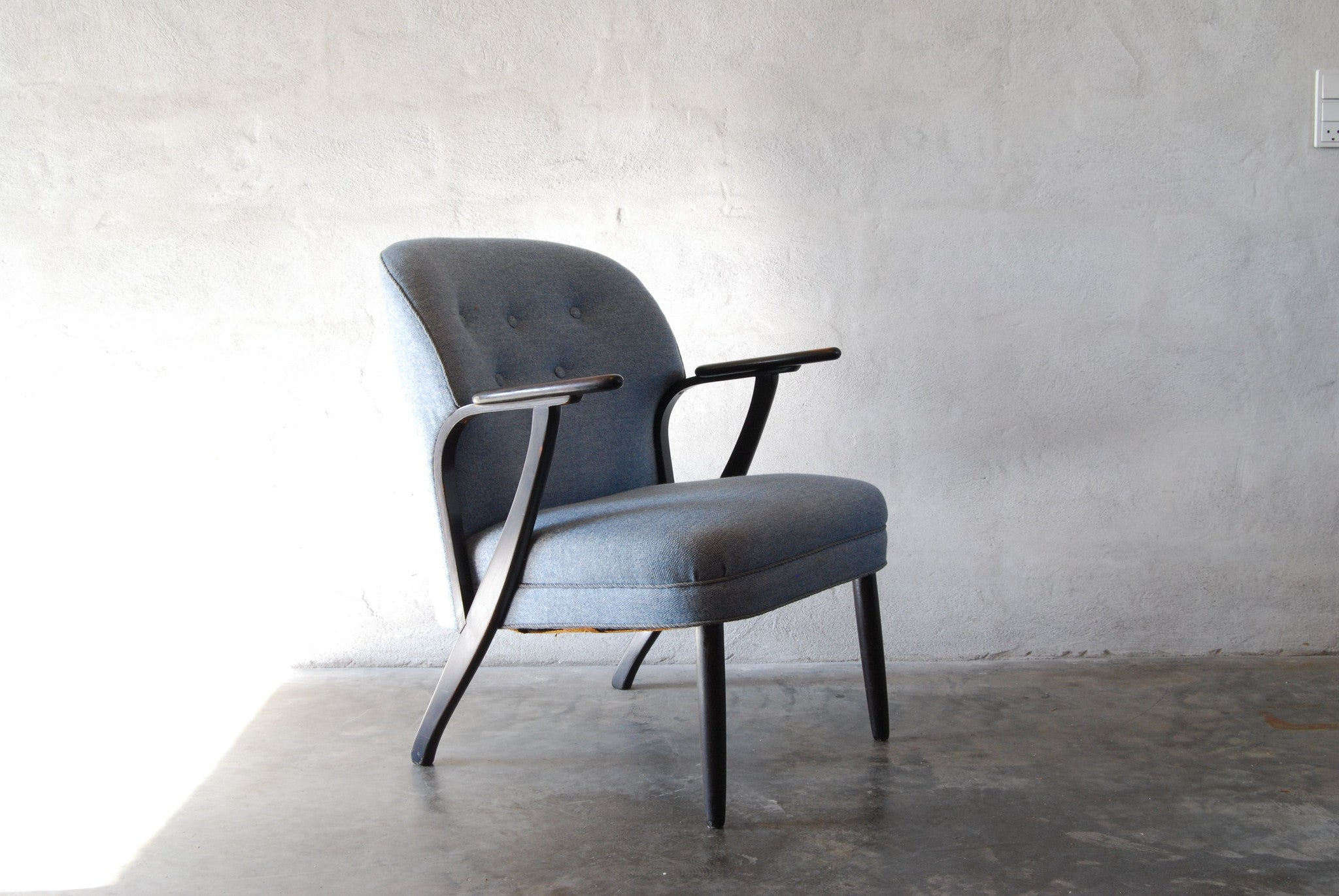 Chase & Sorensen Lounge chair in ebonised beech